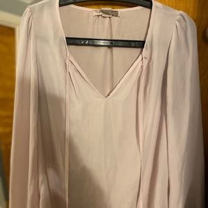 S Pink Forever 21 Long-Sleeve Blouse